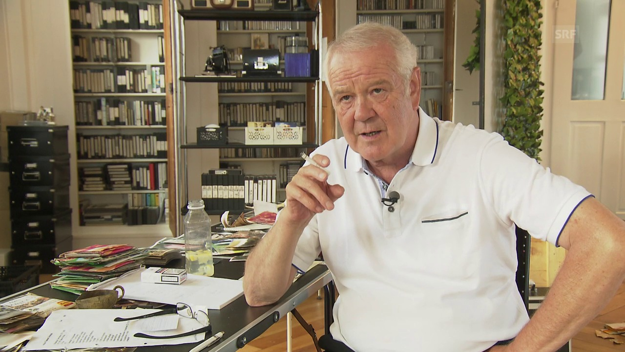«Ich war der erste männliche Ansager im Schweizer Fernsehen»