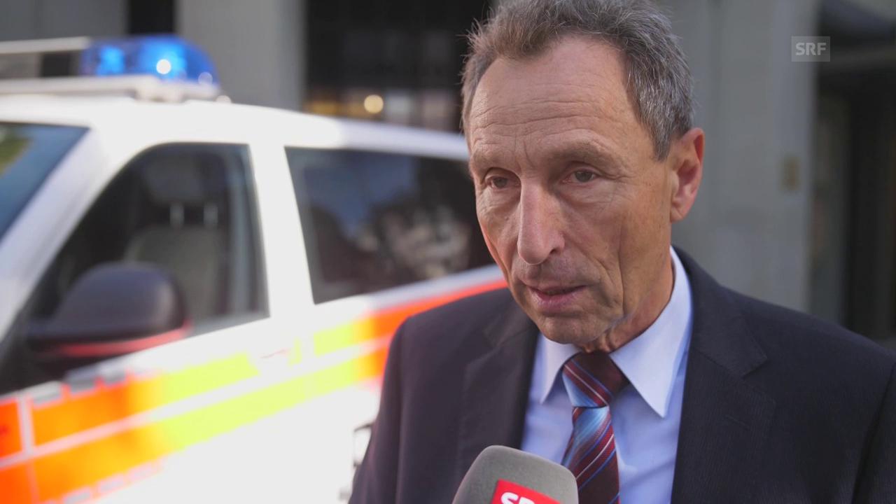 Marco Cortesi, Sprecher Stadtpolizei: «Die Kunden mussten sich auf den Boden legen.»