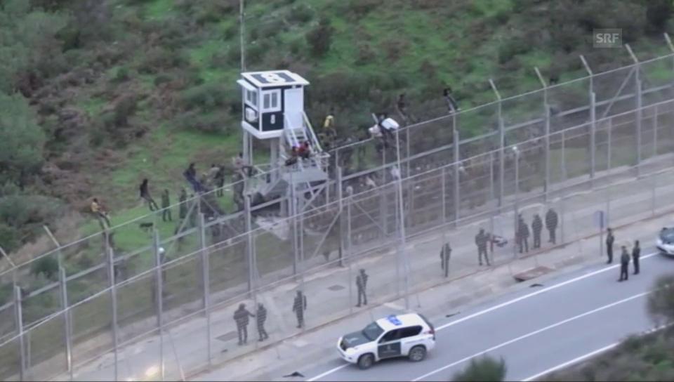 Ceutas Barrieren und der Flüchtlingsansturm