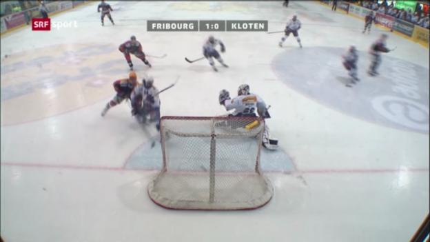 Video «Fribourg-Gottéron - Kloten Flyers Lions «sportaktuell»» abspielen