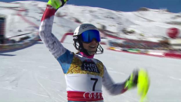 Video «Wendy Holdener Silber-Lauf im WM-Slalom» abspielen