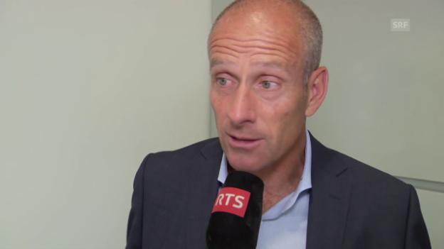 Video «Tennis: French Open, Interview Guy Forget» abspielen