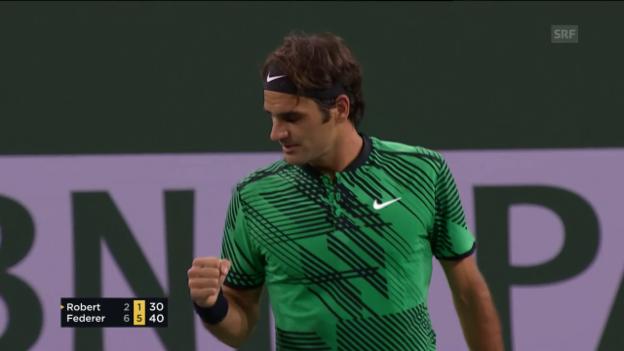 Video «Federers Auftakt nach Mass» abspielen
