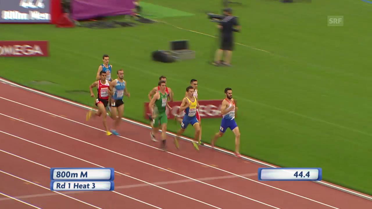 LA-EM: 800 m Männer, Vorlauf von Hugo Santacruz