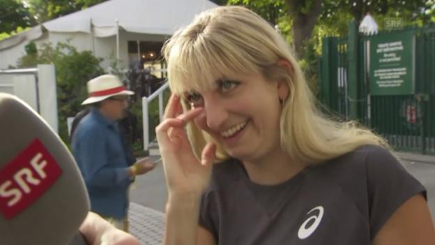 Video «Emotionale Bacsinszky spricht über ihre Halbfinal-Niederlage» abspielen