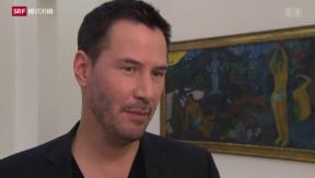 Video «Keanu Reeves: Hollywood trifft auf Kunstwelt» abspielen