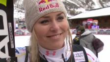 Video «Ski: Lindsey Vonn im Interview nach der Kombi» abspielen