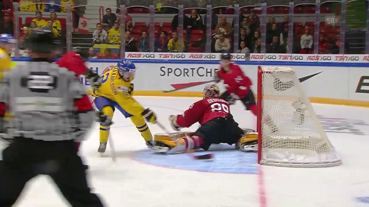 Eishockey: Zusammenfassung Schweiz - Schweden, U20-WM