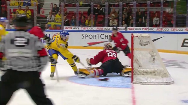 Video «Eishockey: Zusammenfassung Schweiz - Schweden, U20-WM» abspielen
