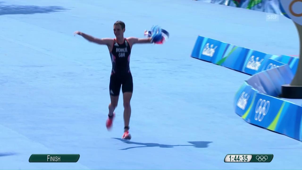 Brownlee läuft zum Triathlon-Sieg