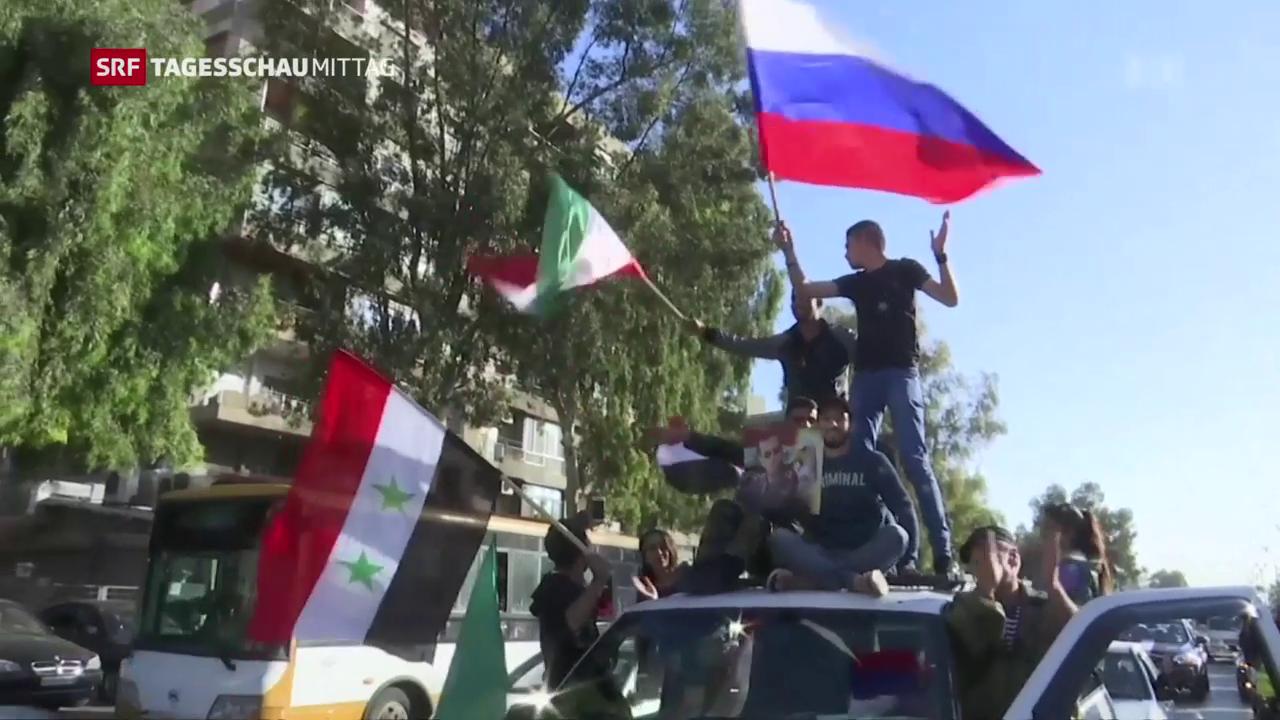 Viele Syrer zeigen sich solidarisch mit ihrem Präsidenten