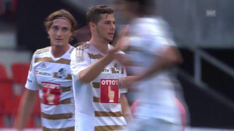 Video «Fussball : Schweizer Cup, Xamax – Luzern, 4:2 Luzern» abspielen