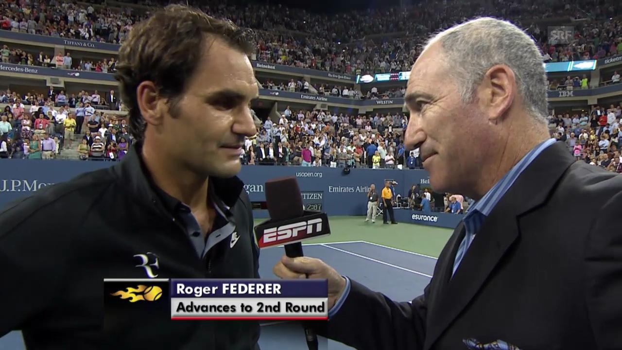 Tennis: US Open, Platz-Interview Federer