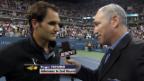 Video «Tennis: US Open, Platz-Interview Federer» abspielen
