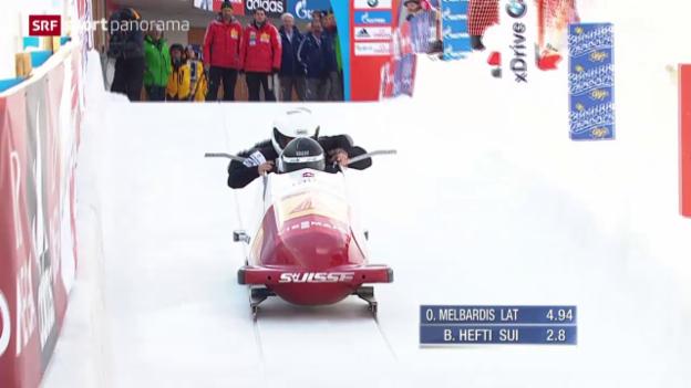 Video «Bob: Viererbob-Weltcup St. Moritz» abspielen