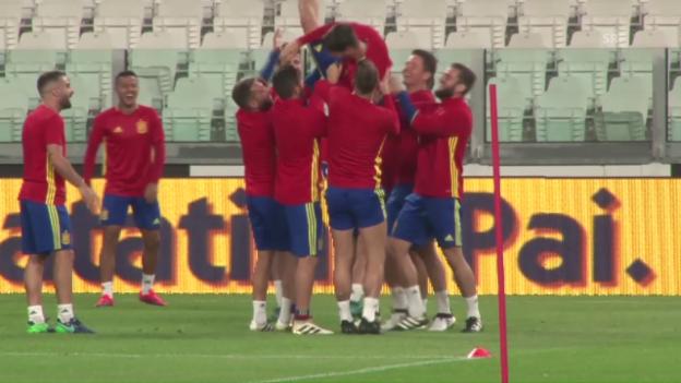 Video «Rachegelüste bei Spanien vor Kracher gegen Italien» abspielen