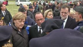 Video «Hollande, Merkel und Rajoy am Absturzort» abspielen