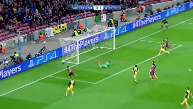 Video «Fussball: Champions-League-Viertelfinal, Zusammenfassung Barcelona - Atletico Madrid» abspielen