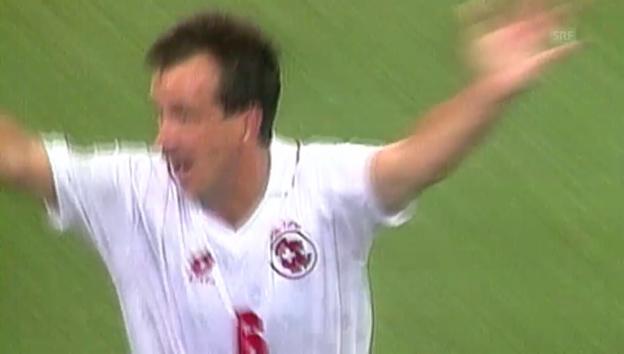 Video «WM 1994: USA - Schweiz, Tor von Georges Bregy» abspielen