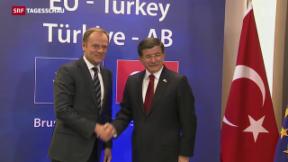 Video «EU-Türkei-Gipfel: Europa bietet grosszügige Hilfen» abspielen