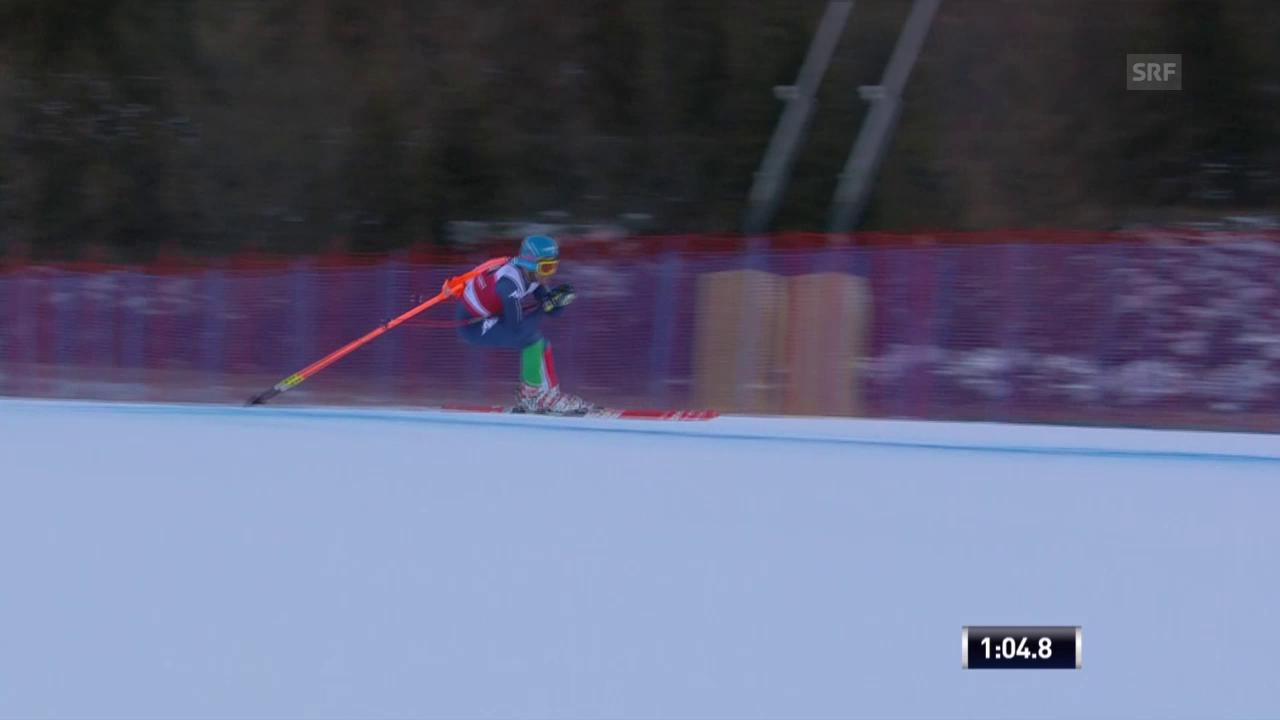 Ski: Abfahrt Männer, Innerhofer mit Torstange
