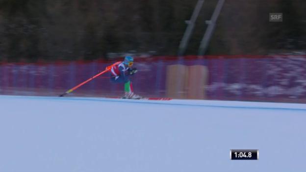 Video «Ski: Abfahrt Männer, Innerhofer mit Torstange» abspielen