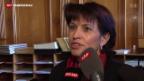Video «Doris Leuthard hält nichts von AKW-Verstaatlichungs-Vorschlag» abspielen