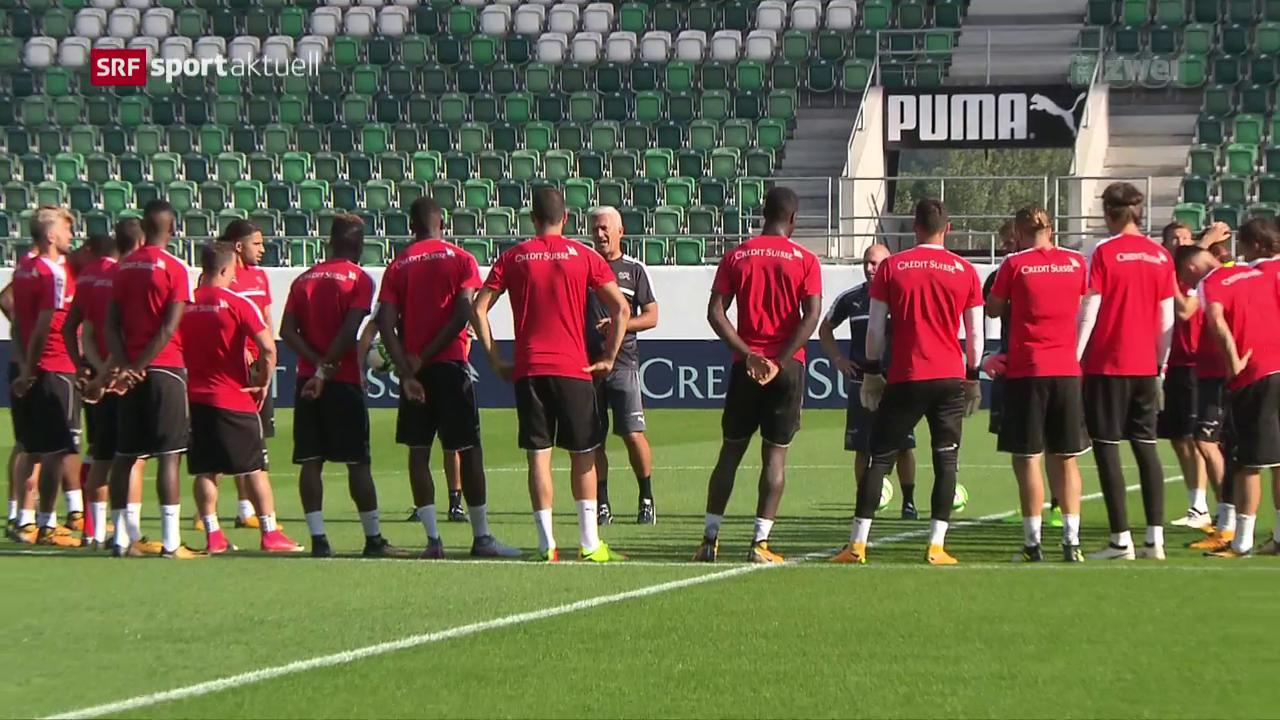 Die Nati vor dem Spiel gegen Andorra