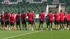 Video «Die Nati vor dem Spiel gegen Andorra» abspielen