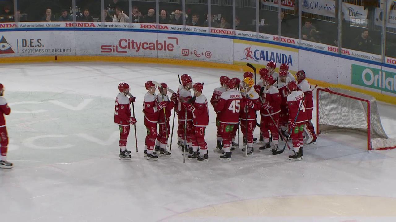 Lausanne feiert 1:0-Sieg gegen Ambri