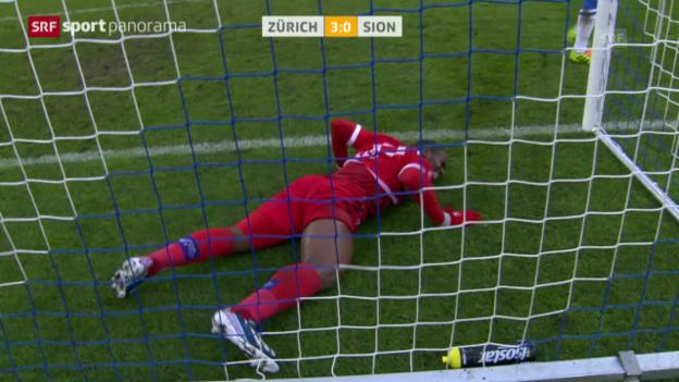 Video «Fussball: Zusammenfassung FC Zürich - Sion («sportpanorama»)» abspielen