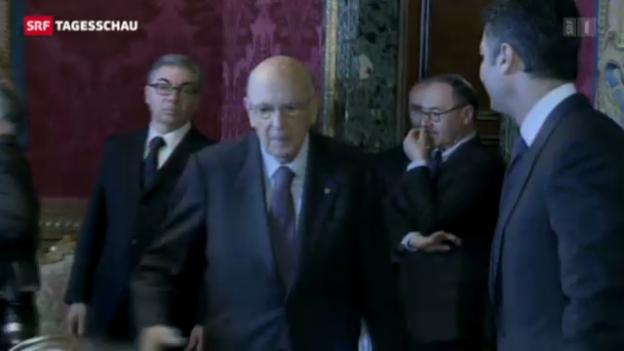 Video «Napolitano erneut Staatspräsident von Italien» abspielen