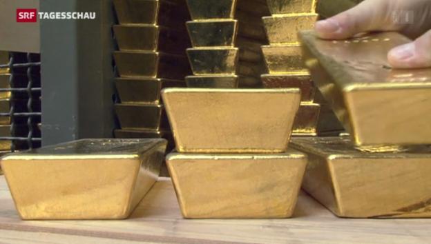 Video «Goldwert 2013 um fast einen Drittel gesunken» abspielen
