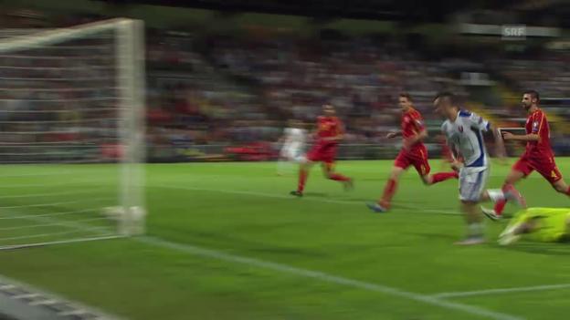Video «Fussball: EM-Quali, Tore Slowakei - Mazedonien» abspielen