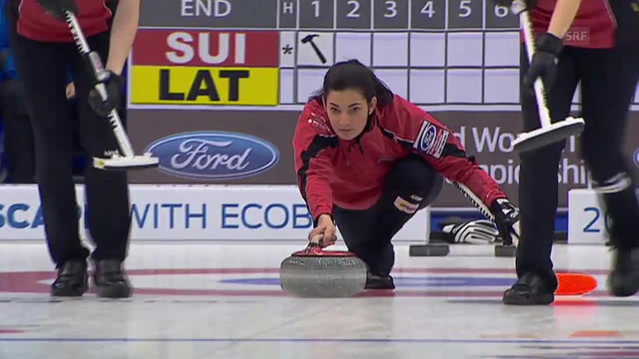 Curling-WM: Entscheidung Schweiz - Lettland (Quelle: EVS)