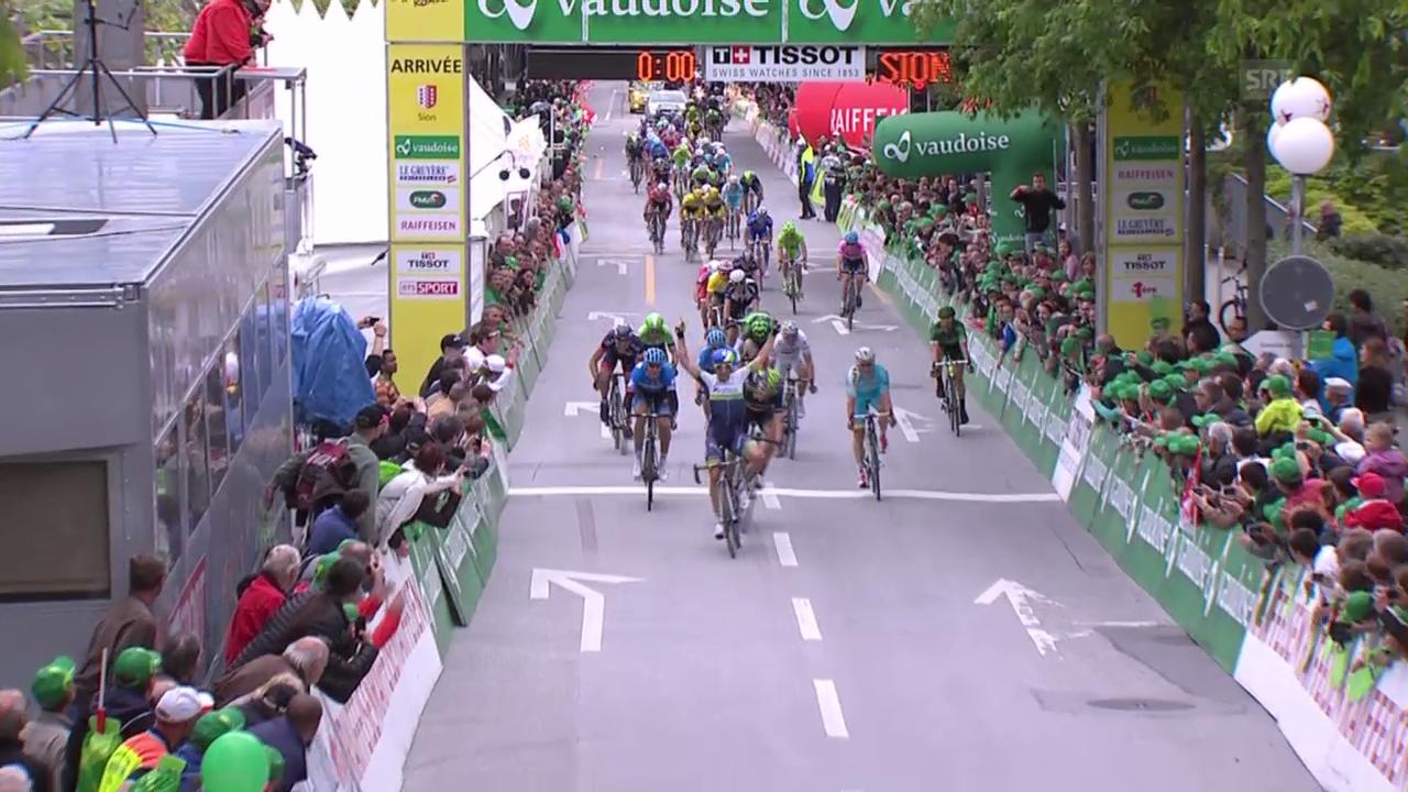 Rad: Tour de Romandie, 1. Etappe: Zielankunft