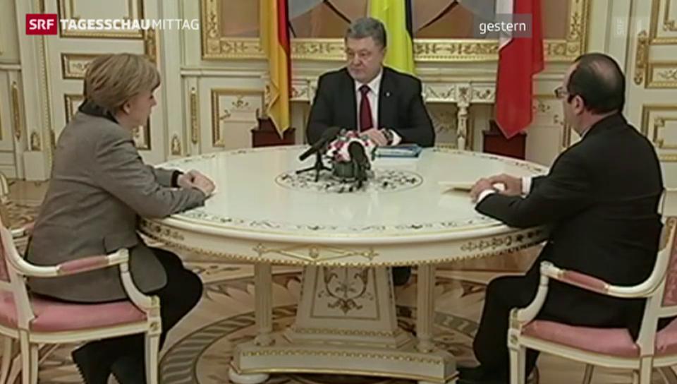 Merkel und Hollande treffen Putin