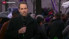 Video «SRF-Korrespondent Arthur Honegger zur Demonstration» abspielen