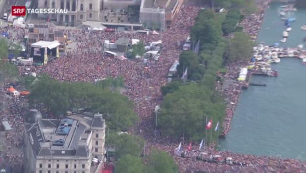 Video «Hunderttausende an der Streetparade» abspielen