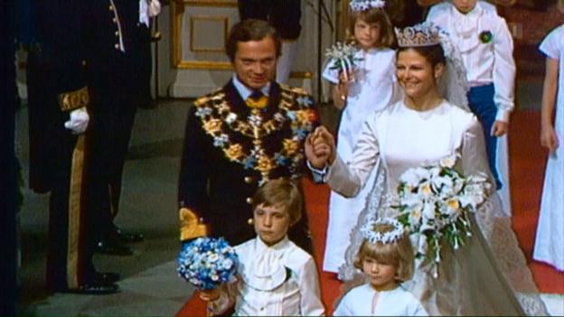Video «Schwedisches Königspaar: Eine Bilanz zum 40. Hochzeitstag» abspielen