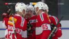 Video «Die Schweiz gewinnt gegen Norwegen mit 3:0» abspielen