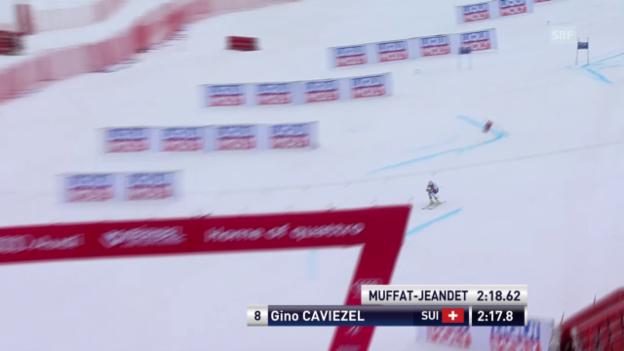 Video «Ski: Riesenslalom Männer, Méribel, 2. Lauf Gino Caviezel» abspielen
