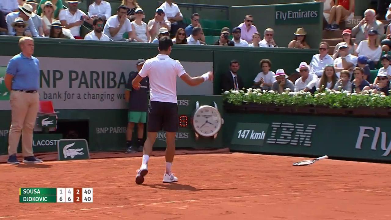 Djokovics Schläger muss dran glauben