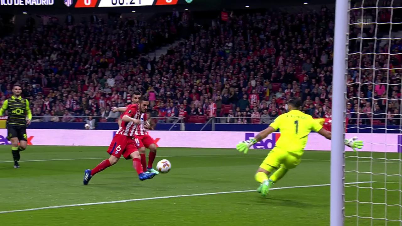 Atletico fertigt Sporting ab