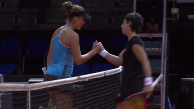 Video «Tennis: WTA-Turnier in Stuttgart, Achtelfinal, Bencic - Suarez-Navarro» abspielen