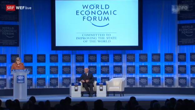 Video «Angela Merkel spricht am WEF in Davos» abspielen