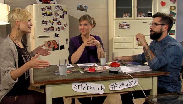 Video «Dominique Rinderknecht zeigt sich bei «Virus TV» ganz unglamourös» abspielen