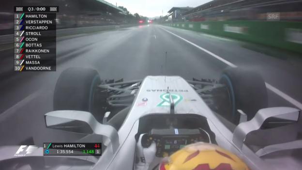 Video «Hamilton im Monza-Qualifying am schnellsten» abspielen