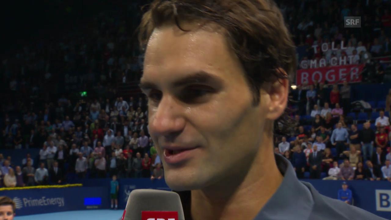Tennis: Platzinterview mit Roger Federer («sportlive»)