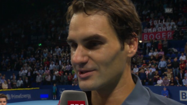 Video «Tennis: Platzinterview mit Roger Federer («sportlive»)» abspielen